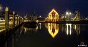 Haven van Oudeschild op Texel bij nacht / Harbour of Oudeschild on Texel by night