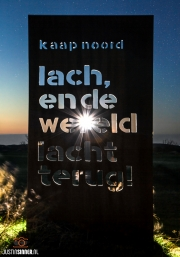 Mooie spreuk in de Noordkop van Texel / Beautiful saying in the north of Texel