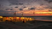 Zonsondergang strand de Koog Texel 20 sec. / Sunset at dek Koog Texel 20 sec. exposed
