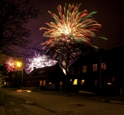 Vuurwerk boven Texel 30 sec. / Firework at Texel 30 sec. exposed