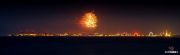 Vuurwerk boven den Helder / Skyline of den Helder during sail