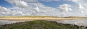 Panoramafoto van het Texelse strand / Panoramic photo of Texel beach