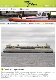 """Teso's new ferry """"Texelstroom""""arrives for the first time at Texel. (25-05-2016) Texelplaza"""
