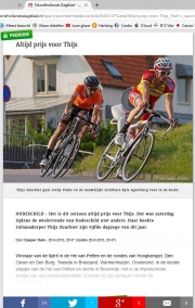 WielerRonde van Oudeschild / Cyclingrace of Oudeschild / NoordHollands Dagblad aug 2016
