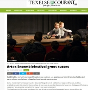 Foto in de Texelse courant, Ensemblefestival maart 2018.