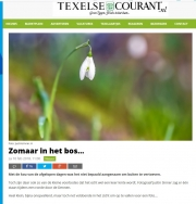 Snowdrop on Texel, texelse Courant febr. 2018