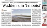 Artikel ui het NoordHollands dagblad over Werelderfgoed de Waddenzee / Article from the newspaper Noordhollands Dagblad about the Wadden Sea World Heritage / sept 2016