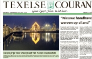 Voorpagina foto  over dat ik de 3de prijs heb gewonnen op Texelse Courant van jan. 2018 / Frontpage photo about that I won the 3rd prize in Texel newspaper from jan. 2018