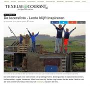 Hutten bouwen op de meierblis van Oudechild op Texel. Texelse Courtant apr 2016