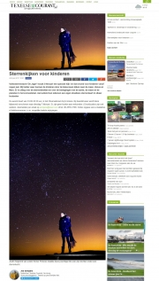 Under the Stars in Texelse Courant, jan 2017
