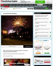 NoordHollands Dagblad, Vuurwerk op Texel / Fireworks on Texel / jan 2017