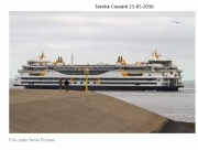"Teso's new ferry ""Texelstroom""arrives for the first time at Texel. (25-05-2016) Texelse Courant"