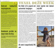 Artikel uit TexelditWeekend winnaar publieksprijs NRC / Article from Texel This Weekend Audience Award winner NRC / aug 2016