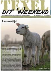 Voorpagina: De eerste op de Hogeberg / Frontpage: First Lambs at Texel / Texel dit Weekend febr 2016