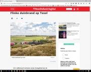 NHD Duinbrand op Texel. aug 2017