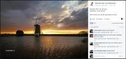 Foto op de Facebooksite van de Mooiste foto van Nederland. Mrt 2016