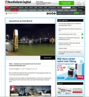 NoordHollands Dagblad, Storm op Texel / Storm on Texel, jan 2017