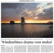 Stuk over drama windturbines voor Texel. NoordHollands Dagblad van 31-3-2016