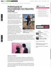 Artikel uit het NRC dagblad winnaar publieksprijs / Article from the NRC newspaper Audience Award winner / aug 2016