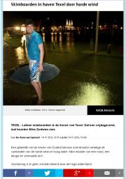 Skimboarden met Hoogwater / Skimboarding with Floods / NHD okt 2015
