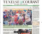 November 2018, intocht Sinterklaas op Texel, voorpaginafoto Texelse Courant. https://justinsinner.nl/