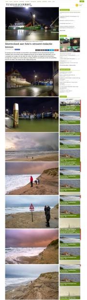 Texelse Courant, Storm op Texel / Storm on Texel, jan 2017
