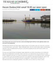 Oilleak harbour Oudeschild. Texel. Texelse courant apr 2016