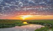 Zonsondergang natuurgebied de Slufter op Texel / Texel sunset