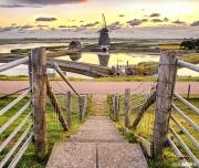 """Molen """"het Noorden""""nabij buurtschap oost op Texel / Windmill """"the North""""near township Est on Texel"""