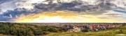 Zonsopkomst boven het Texelse dorp de Koog / Stunning sunset above de Koog, Texel