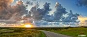 """Mooie zonsondergang boven natuurgebied de Hors op Texel / Amazing sunset above nature reservate """"de Hors"""" Texel"""