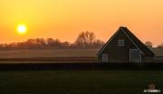 "Zonsondergang boven natuurgebied de Hogeberg / Sunset above nature reservate ""De Hogeberg"""
