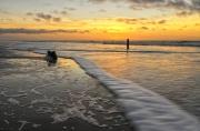 Zonsopndergang op het strand van Texel / Sunset at the beach of Texel