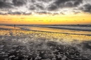 Zonsondergang op het strand van Texel / Sunset at Texel beach