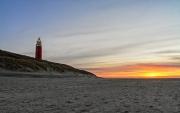 Texelse vuurtoren tijdens de zonsondergang / Texel lighthouse during sunset
