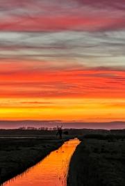 Zonsondergang boven natuurgebied WaalenBurg op Texel / Sunset above nature reservate WaalenBurg on Texel