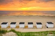 Zonsondergang op het strand van Texel, Sunset at Texel beach