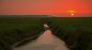 Mooie zonsondergang boven natuurgebied de Slufter / Nice sunset above nature reservate de Slufter
