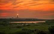 Zonsondergang op Texel / Sunset at Texel