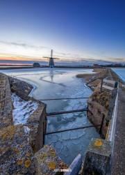 Molen het Noorden in de ijzige kou / Windmill the North, freezing cold! / justinsinner.nl